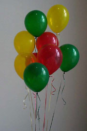 Red Yellow and Green Balloons